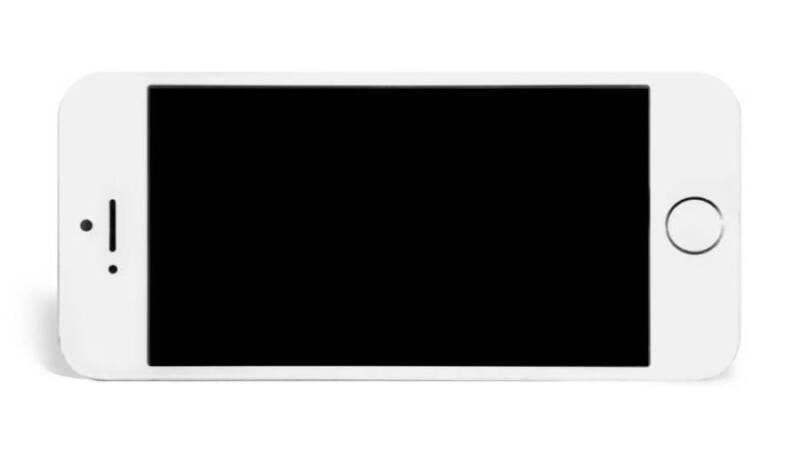 iPhone 横向き